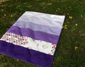 Purple Ombre Hugs and Kisses Baby Quilt