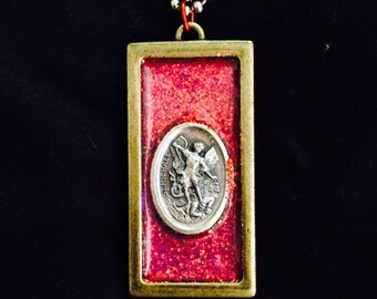 Red St. Michael Necklace