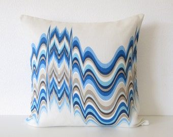 Jonathan Adler Distorted Oceanfront decorative throw pillow cover