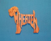 Wheaten (Terrier) Dog Breed Wooden Scroll Saw Puzzle