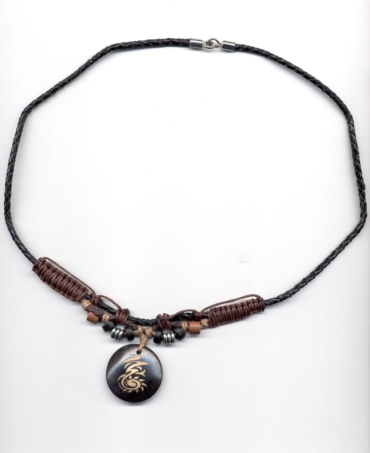 hemp leather necklace lnb for