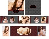 Instant Download - RED VALENTINE 3x3 Mini Accordion Template - Perfect for Boudoir Photographers