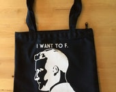 I Want To F. Scott Fitzgerald Zippered Shoulder Tote