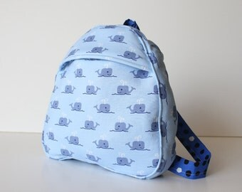 toddler backpack -- whales