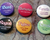 RPG Class Skill +10 Buttons - Set of 10 Classes