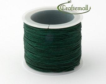 Dark green nylon cord - 1mm nylon cord - 1 roll (35meters)