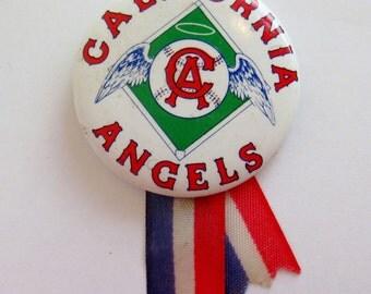 Vintage 60s California Angels MLB Baseball Pin Pinback Button