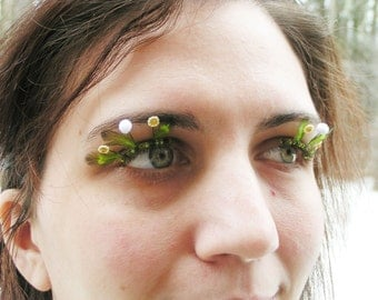 Summer Dandelion Eyelash Jewelry - false eyelashes with miniature flowers