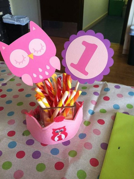 Owl centerpieces owl cutouts owl by creativepartybanners for Baby shower decoration cutouts