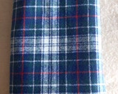 Reserved Fringed Pendleton Blue Plaid Virgin Wool Scarf 19 x 90