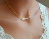 Freshwater pearl necklace, everyday jewelry, simple pearl necklace, bridal pearl necklace, sisters gifts, pearl necklace