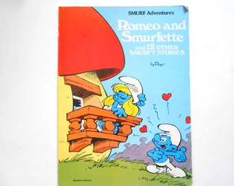Romeo and Smurfette, a Vintage Children's Comic Book, 1978, First American Edition
