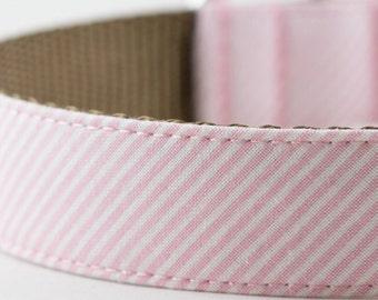 Light Pink Stripes Dog Collar