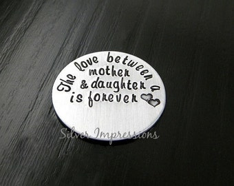 Floating Locket Plate / The love between a mother and daughter is forever  / Floating Locket Charms