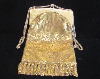 Vintage Purse Whiting And Davis Purse Art Deco Purse 1940's Mesh Purse Flapper Evening Handbag RARE