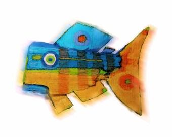 Fish Art - Whimsical, Colorful Original Limited Edition Fish Print