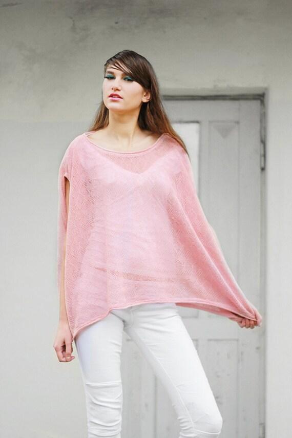 Blouse Linen Pink 3