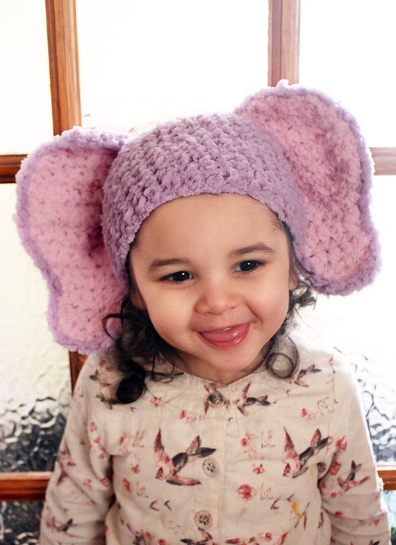 6 bis 12m lila rosa Elefant Hut häkeln Elefant Babymütze Baby | Etsy