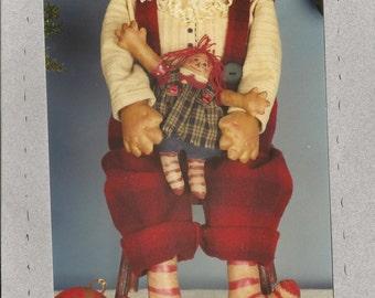Mr Jolly #RR63 Pattern by Folksy Primitives - Santa and Rag Dolly Pattern