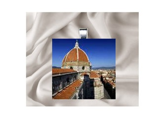 Scrabble Tile Pendant Necklace Italy, Florence