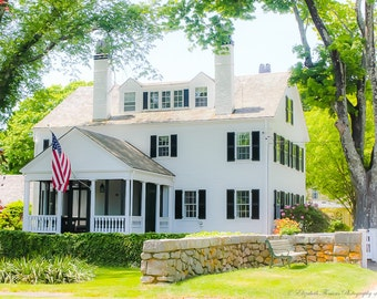 Classic CAPE COD Colonial in FALMOUTH, Fine Art Photography, Travel, New England, Massachusetts, Architecture, Antique, Vintage, Liz Thomas