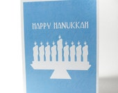 Hanukkah Card, Happy Hanukkah Blue
