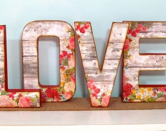 LOVE Letters, Wedding, Vintage Style
