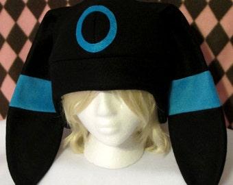 Black and Blue Shiny Evolution Fleece Hat