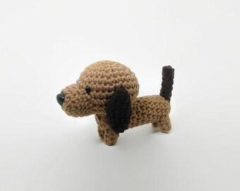 Stuffed Animal Dachshund Wiener Dog Amigurumi Doggie Crochet Puppy Doll / Made to Order