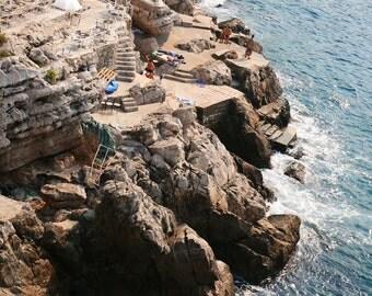 Dubrovnik Croatia Photography Print - Travel Wall Art - Nautical Decor - Seascape - Home Decor - Cliffs Photo
