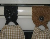 Tea Towel Holder with Towel or Without (you choose)  Black or Custom Color(you choose)