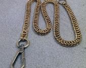 Golden Brass Dragon Chainmaille Wallet Chain