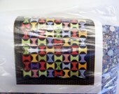 "Lap Quilt Kit - ""Wooden Spools"" Fabric and Pattern - Quilting Material, Quilt Pattern, Quilt Fabric Kit, Quilt Top Kit"