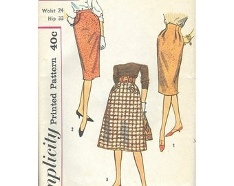 Simplicity 3113 1950s Set Of 3 Skirts