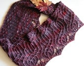 Custom Hand Knit to Order - Arbor Long Cowl - Circle Scarf