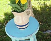 Vintage Blue Band Pitcher by Robinson Ransbottom Pottery RRP 1Qt.