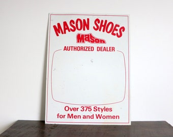 Retro Shoe Sign
