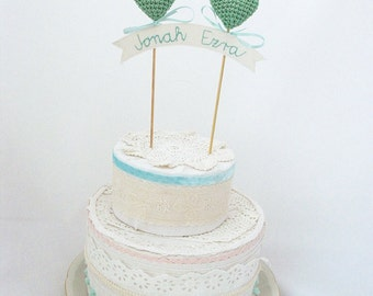 Christening Baptism Cake Topper Baby Shower Cake Topper