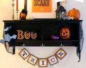 Halloween Banner Letters - Orange & Black - Printable PDF