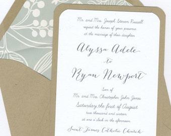 Alyssa & Ryan Wedding Invitation Set