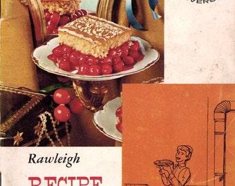 Vintage 1960s Cookbook RAWLEIGH'S RECIPE GEMS Mad Men Era Cooking