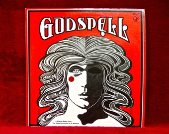 GODSPELL - Gospel Musical Bassed on the Gospel According to St. Matthew - 1971 Vintage Vinyl Record Album