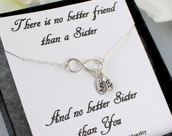 Twin sister gifts etsy sterling silver infinity bracelet personalized infinity bracelet dainty initial charm sister gift bridesmaids negle Gallery
