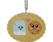 Cookie and Milk Wooden Necklace
