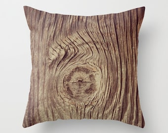 Wood Grain Pillow Cover, Wood Camo Cover , Photo Pillow Cover