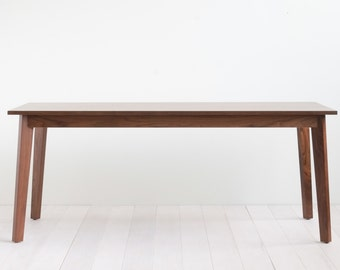 Solid Walnut Ventura Dining Table - Customizable with Leaves