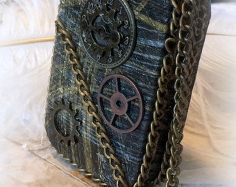Altered Altoid Tin, Steam Punk, Steampunk, Credit Card Case, Stash Box,  Change Purse, Costume Accessory, Cosplay Accessory Metal Wallet