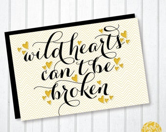 Wild Hearts Typographic Valentine's Day Card