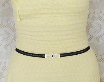 Elastic Belt - Black Belt - Waist Belt - Silver Belt - Net belt - Skinny Belt - Bridesmaids Belt - Bridesmaids Accessories - Dress Belt
