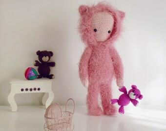 Doll Crochet Pattern Amigurumi Bear PDF - Instant Download